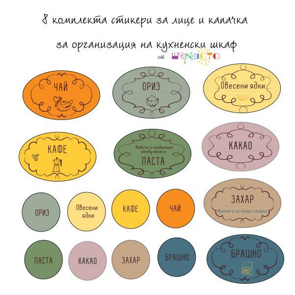 комплект стикери за кухня за български